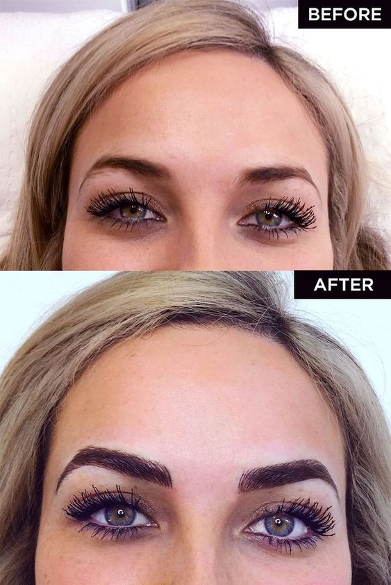 Microblading des sourcils : before and after